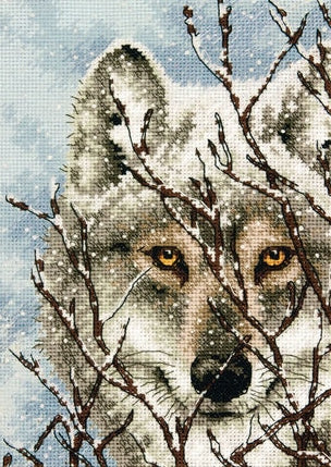 Wolf Counted Cross Stitch Kit, Dimensions D70-65131
