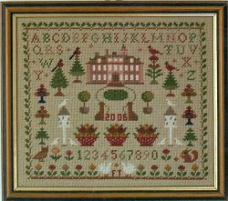English Country House Sampler Tapestry Needlepoint Kit, Fei Collection