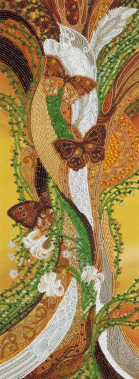 Fabulous Birds Bead Embroidery Kit, Bead Work Kit VDV, TN-0598