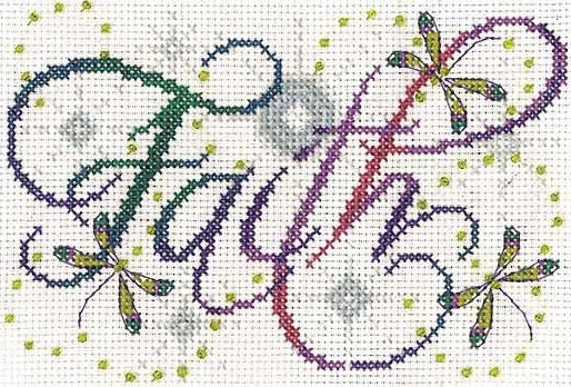 Faith Cross Stitch Kit, Design Works 2874