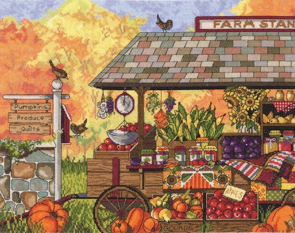 Farm Stand Cross Stitch Kit, Janlynn 017-0111