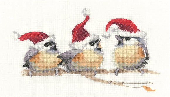 Festive Chicks Cross Stitch Kit, Heritage Crafts, Valerie Pfeiffer