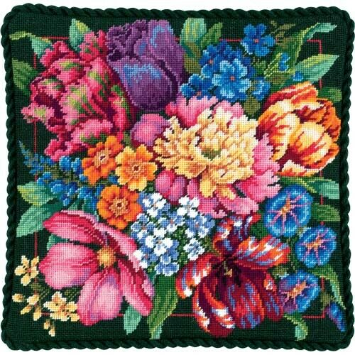 Floral Splendour Tapestry Needlepoint Kit, Dimensions D72-120011
