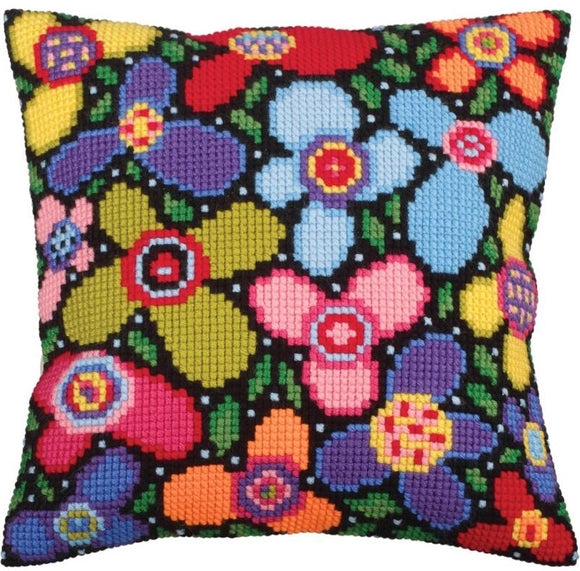 Flower Glade CROSS Stitch Tapestry Kit, Collection D'Art CD5259