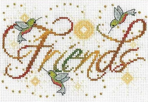 Friends Cross Stitch Kit, Design Works 2876