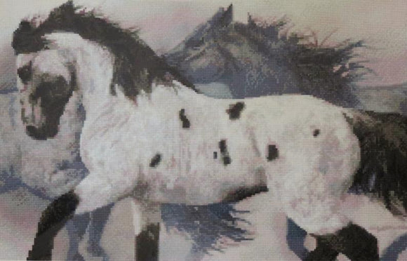 Ghost Wind, Horses Cross Stitch Kit, Kustom Krafts