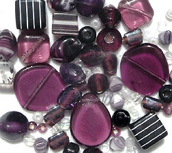 Glass Beads - Luxury Bead Pack -Blackberry Jam 2496