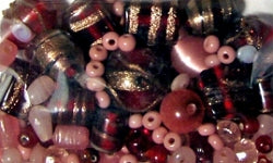 Glass Beads - Luxury Bead Pack - Burgundy Blush 2511