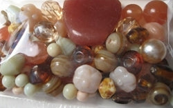 Glass Beads - Luxury Bead Pack - Caramel Corn 2505