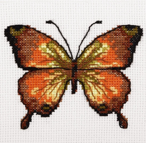 Golden Butterfly Cross Stitch Kit, VDV TM-0213