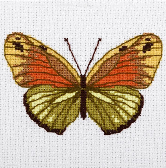 Green Butterfly Cross Stitch Kit, VDV TM-0216