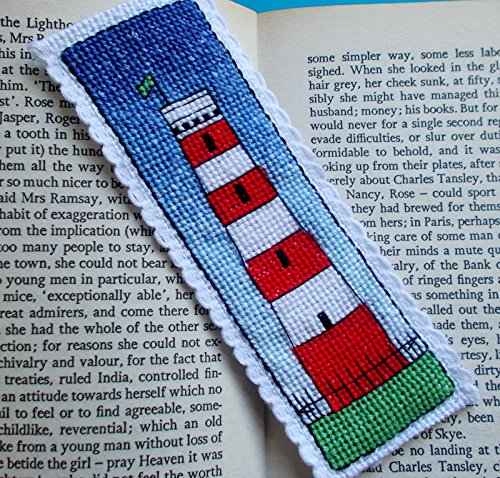 Gribbin Lighthouse, Cornwall Bookmark Cross Stitch Kit, Emma Louise Art Stitch