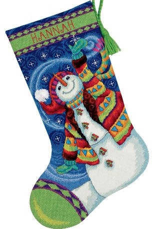 Happy Snowman Stocking Tapestry Needlepoint Kit, Dimensions