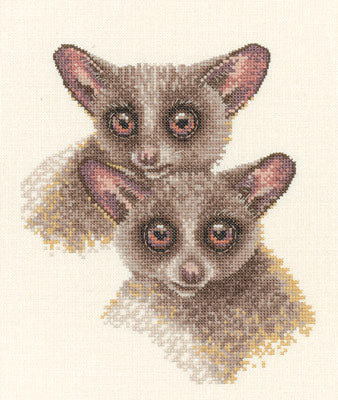 Bush Babies Cross Stitch Kits, Heritage Crafts Warwick Higgs