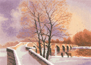 Packhorse Bridge Counted Cross Stitch Kit, John Clayton, Heritage Crafts