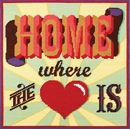 Home Where the Heart Is Tapestry Kit, Emily Peacock Needlepoint C117K