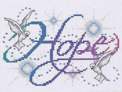 Hope Cross Stitch Kit, Design Works 9796
