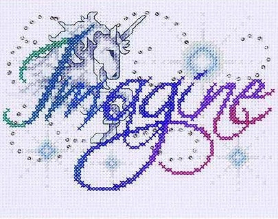 Imagine Cross Stitch Kit, Design Works 9798