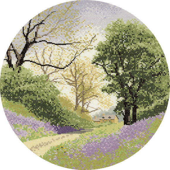 Bluebell Lane Cross Stitch Kit, John Clayton Circles, Heritage Crafts