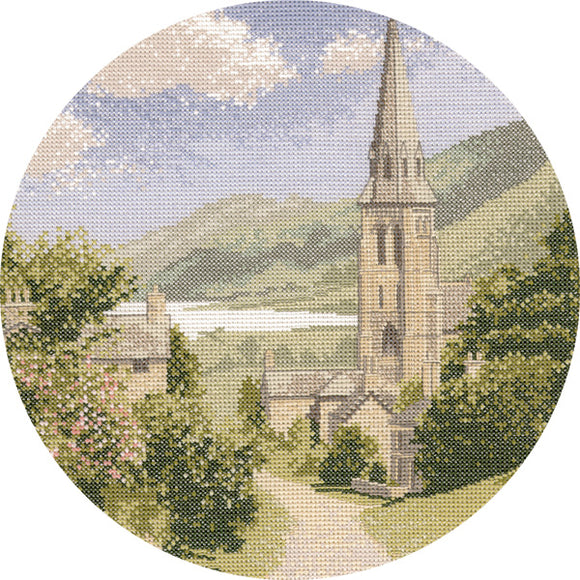 Lakeside Village Cross Stitch Kit, John Clayton Circles Heritage Crafts