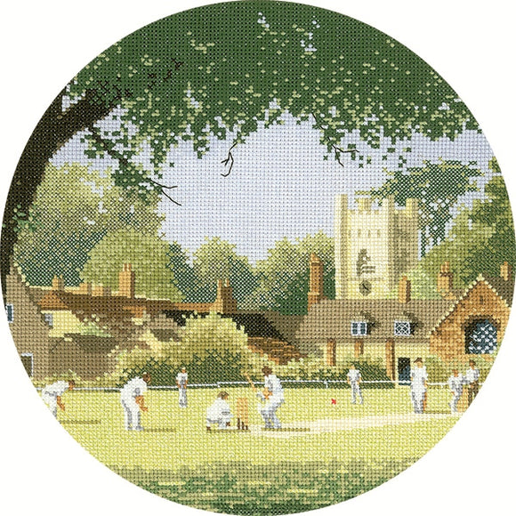 Sunday Cricket Cross Stitch Kit, John Clayton Circles, Heritage Crafts