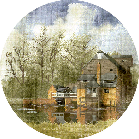 Watermill Cross Stitch Kit, John Clayton Circles, Heritage Crafts