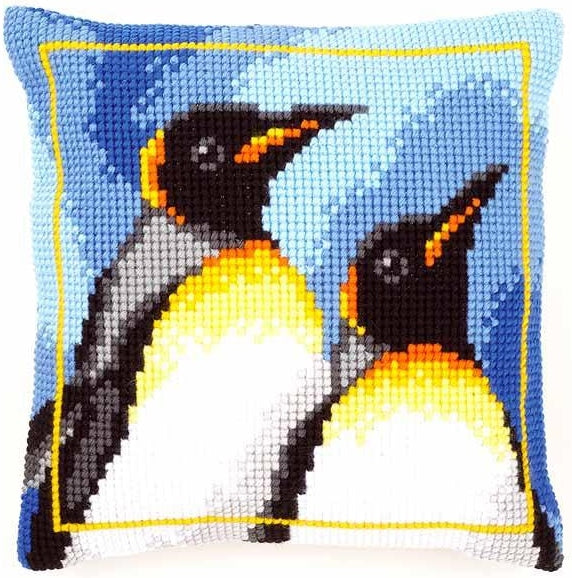 King Penguins CROSS Stitch Tapestry Kit, Vervaco PN-0147725