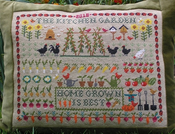 Kitchen Garden Sampler Tapestry Needlepoint Kit, Fei Collection