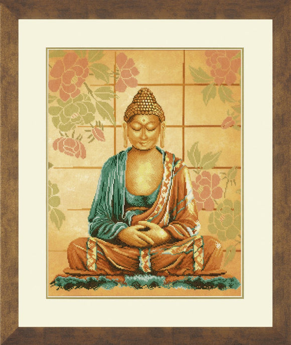 Buddha Counted Cross Stitch Kit, Lanarte PN-0008040
