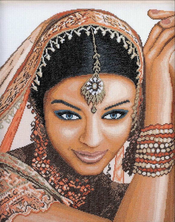 Indian Beauty Counted Cross Stitch Kit, Lanarte PN-0008301