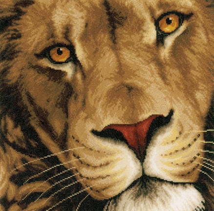 Ling of Animals, Lion Counted Cross Stitch Kit Lanarte pn-0154980