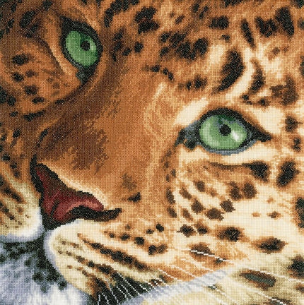 Leopard Counted Cross Stitch Kit Lanarte pn-0155213