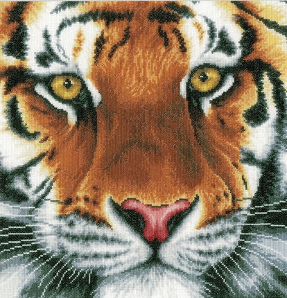 Tiger Counted Cross Stitch Kit Lanarte pn-0156104