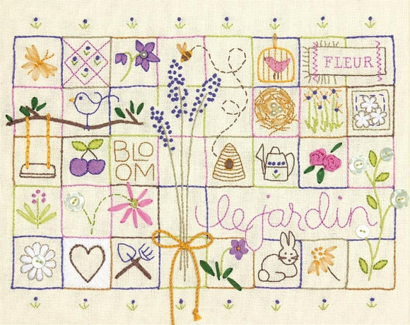 Le Jardin Embroidery Kit, Dimensions D71-01545
