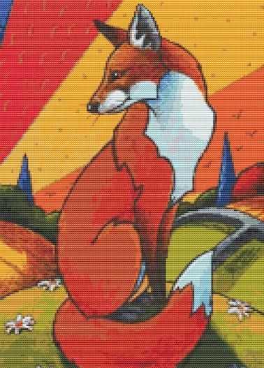 Foxes Tale, Modern Counted Cross Stitch Kit -Lesley D. McKenzie