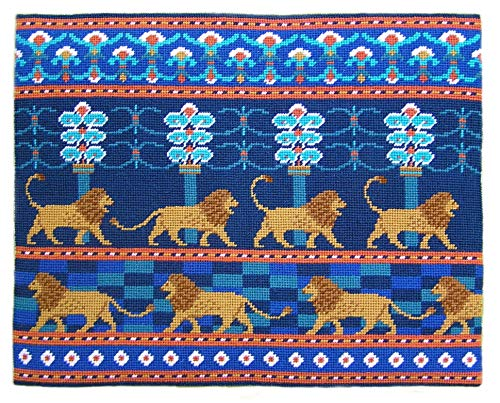 Lions of Babylon Tapestry Kit Needlepoint Kit, The Fei Collection