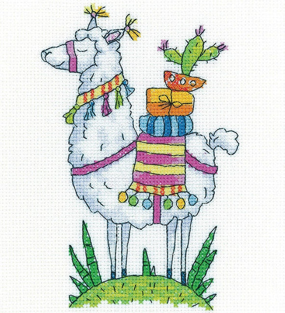 Llama Counted Cross Stitch Kit, Heritage Crafts -Karen Carter