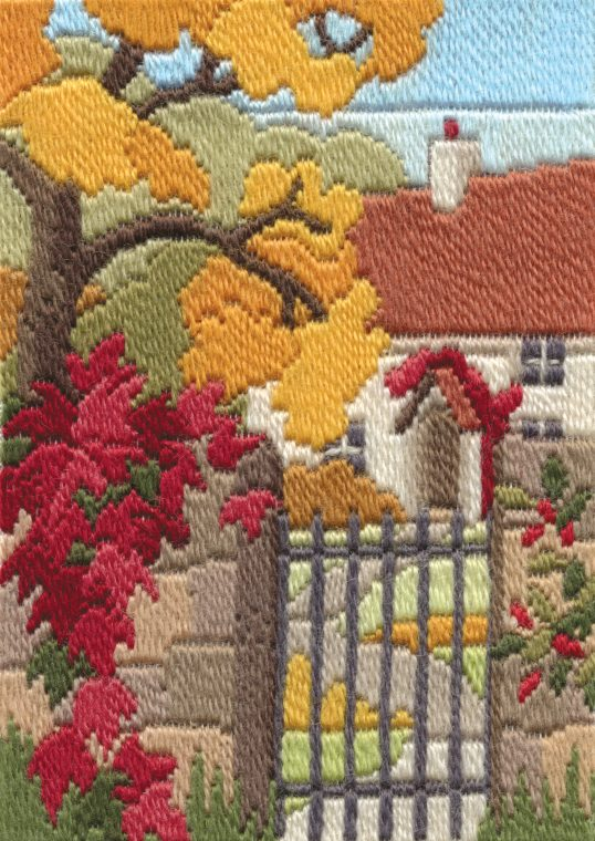 Long Stitch Kit, Cottage Garden Autumn Long Stitch MLS19