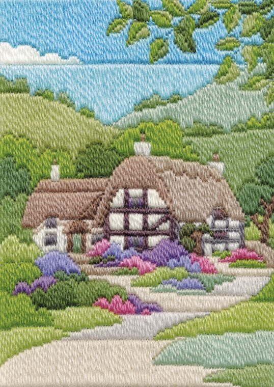 Long Stitch Kit, Cottage Summer Long Stitch MLS10