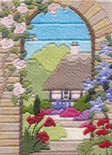Long Stitch Kit, Cottage Garden Summer Long Stitch MLS18