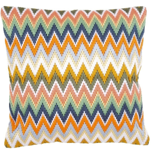 Zig Zag Bargello Long Stitch Kit, Vervaco Cushion Front PN-0147946