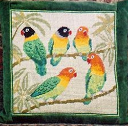 Love Birds Tapestry Kit Needlepoint Kit, The Fei Collection