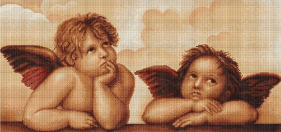 Cherubs, Counted Cross Stitch Kit Luca-s B319