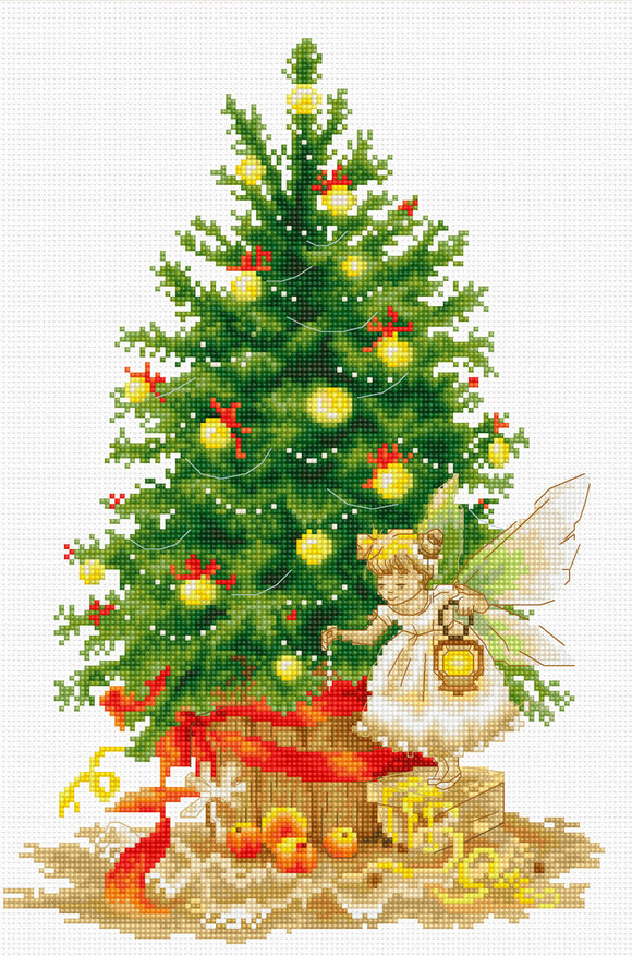 Christmas Tree Fairy Counted Cross Stitch Kit Luca-s B1117