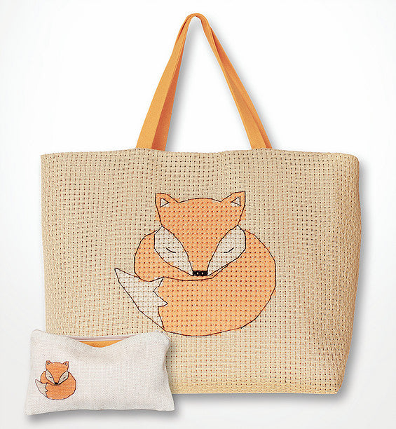 Fox Counted Cross Stitch Kit Bag and Purse Luca-s BAG001