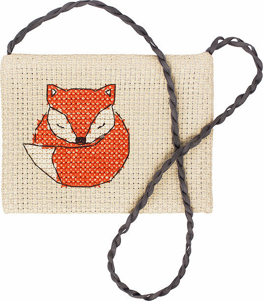 Fox Counted Cross Stitch Kit Shoulder Bag Luca-s BAG005