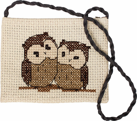 Owls Counted Cross Stitch Kit Shoulder Bag Luca-s BAG006