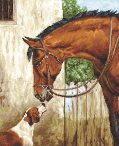 Hunter and Foxhound, Counted Cross Stitch Kit Luca-s B580