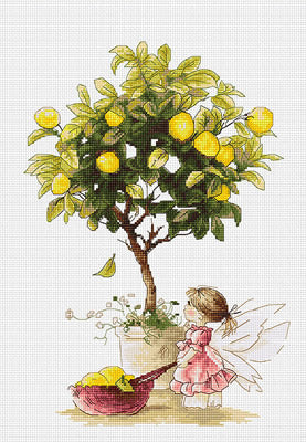 Lemons, Lemon Fairy Counted Cross Stitch Kit, Luca-s B1111