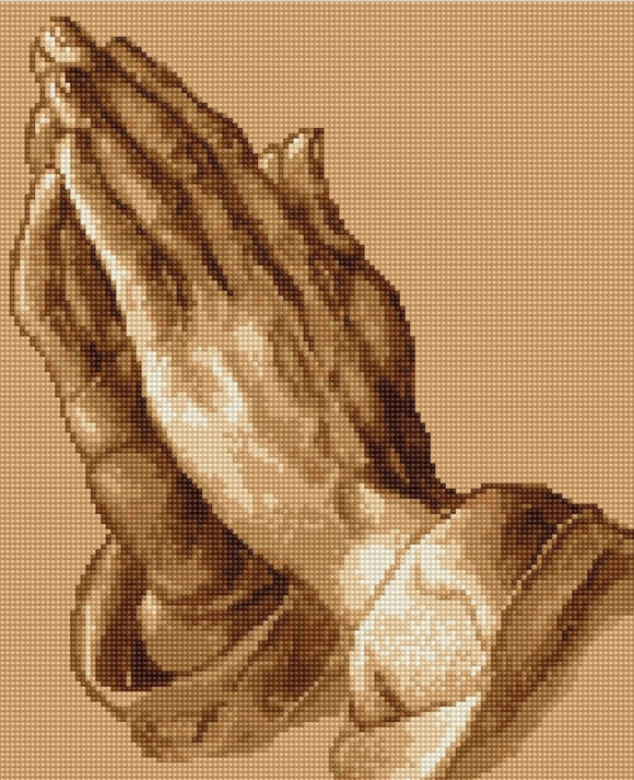 Praying Hands Counted Cross Stitch Kit Luca-s B230